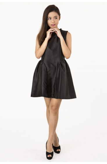Dress with rop-ish collar (Black)