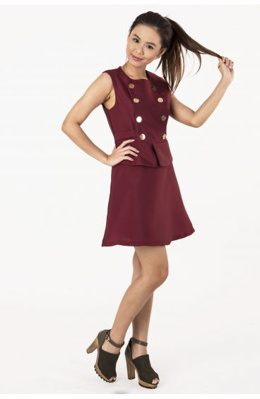 Drummer gal style dress (Red)
